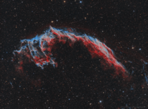 My  Hour long exposure of the Eastern Veil Nebula