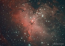 My  hours exposure on the famous Pillars of Creation in the Eagle Nebula Messier
