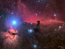 My image of the Horsehead and Flame nebulae in true color which recently got me shortlisted for Astronomy Photographer of the Year