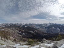 My kinda super bowl from the summit of Clouds Rest Yosemite National Park CA  OC