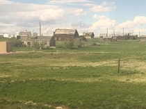 My ladyfriend sent me this pic of a ghost town from the train she took across the Dakotas