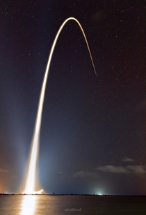 My long exposure of the SpaceX Starlink launch from Cape Canaveral FL