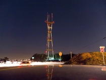 My Long Exposure of the Sutro Tower up in the Twin Peaks in San Francisco CA