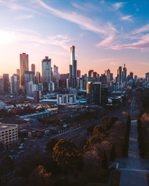 My mates drone shot of Melbourne x