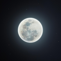 My  megapixel shot of the first full moon of