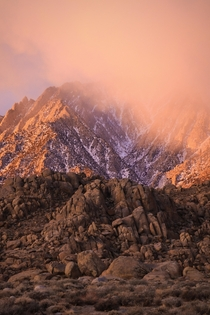 My motivation for waking up early is to see sunrises like this Alabama Hills CA