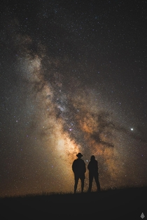 My mum took me to Turkey so I took her out at night to show her the milky-way