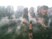 My own visit to Zhangjiajie China on a misty day