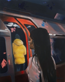 My painting of Londons Subway -    cm oil on canvas -