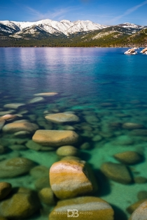 My personal paradise - Sand Harbor on the east coast of Lake Tahoe Nevada Crystal clear water and snow capped mountains
