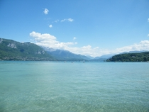 My personal photo of Lake Annecy France