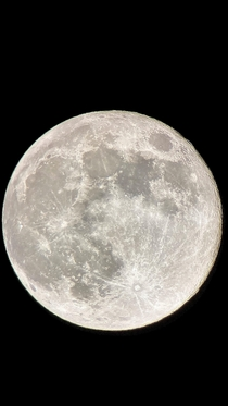 My picture of the Supermoon over Ireland