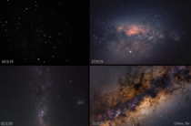 My progress photographing the Milkyway over the past year and a half