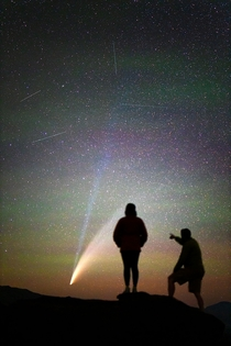 My shot of Comet NEOWISE while working as Artist in Residence for Craters of the Moon National Monument