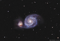 My shot of M The Whirlpool Galaxy