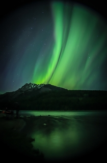 My shot of the aurora in Banff on saturday night KP -