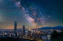 My shots from Taipei City and deep in the mountains show how the skies would look over the city without light pollution