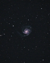 My Small Telescope and DSLR Capturing the Pinwheel Galaxy  Million Light Years Away from my City Backyard