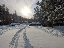 My street after   cm snowfall this past Sunday