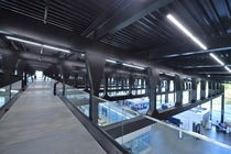 My super fine structural engineer boyfriend worked on these trusses in Trumpf Smart Factory in Hoffman Estates IL