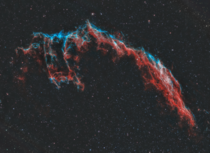 My two-panel mosaic of the Eastern Veil Nebula