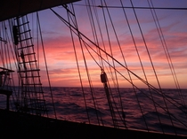 My typical morning living aboard a tall ship Somewhere in the Bermuda Triangle  miles offshore