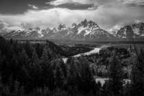 My version of the classic Snake River view of the Grand Tetons Wyoming USA