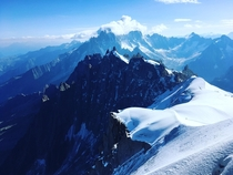 My view from atop Aiguille Du Midi in Chamonix France