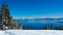 My view while snowboarding Homewood in Lake Tahoe CA