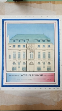 My watercolor of the Hotel De Beauvais