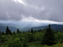 My wife and I went exploring through the great smokey mountains and discovered this view