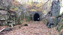 Mysterious and inviting train tunnel in Clinton Massachusetts