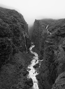 Mysterious valley Glymur Iceland