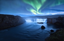 Mystical Goafoss and Northern Lights in Iceland