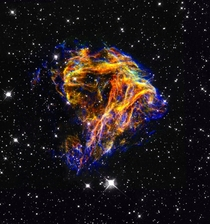 N Supernova Remnant In The Large Magellanic Cloud Approximately  Light Years Away