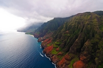 Na Pali Coast as the Morning Breaks on Kauai Hawaii