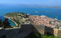 Nafplio Greece as viewed from the Palamidi Fortress