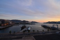 Nagasaki Harbour  at sunset