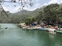 Nainital India is known as the city of seven lakes This is one of the lakes called Naukuchiatal