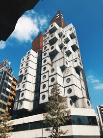 Nakagin Capsule Tower in Ginza area Tokyo Japan by Metabolist Architect Kisho Kurokawa in _so glad I was able to see it in person