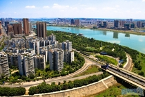 Nanchong th tier city in Sichuan China