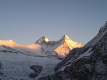 Nanda Devi Indias nd tallest mountain  by Jens Midthun