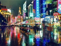 Nanjing Road in Shanghai one of the first commercial district in China