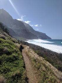 Napali Coast Trail - Island of Kauai Hawaii