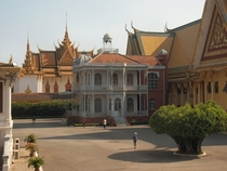 Napoleon III iron pavilion  in the Cambodian palace grounds