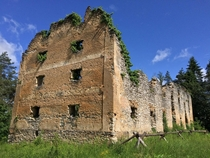 Napoleonic castle from French occupation in Rastoke Croatia