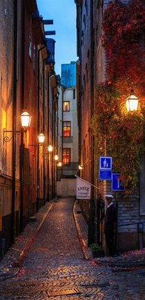 Narrow alley in Stockholm