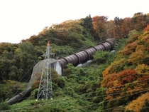 Naruko power station surge tank