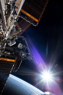 NASA Astronaut Chris Cassidy photographed during a spacewalk this week outside the International Space Station