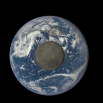 NASA DSCOVR EPIC Moon crossing